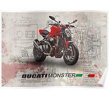 Ducati Monster 1200 R Poster