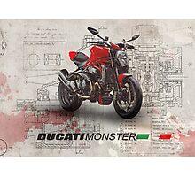 Ducati Monster 1200 R Photographic Print