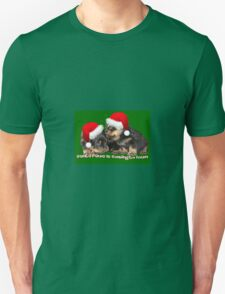 Santa Paws Is Coming To Town Christmas Greeting T-Shirt