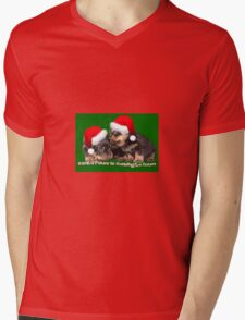 Santa Paws Is Coming To Town Christmas Greeting Mens V-Neck T-Shirt