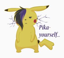 Pika yourself... (emo pikachu) Kids Clothes