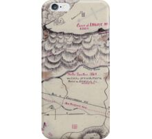 Civil War Maps 1923 Winter quarters 1864 vicinity of Lookout Mountain Tennessee iPhone Case/Skin