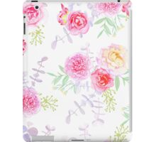 Peonies and roses seamless vector pattern in shabby chic style. iPad Case/Skin