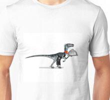 Illustration of a raptor food waiter. Unisex T-Shirt