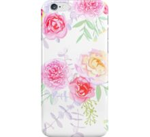Peonies and roses seamless vector pattern in shabby chic style. iPhone Case/Skin