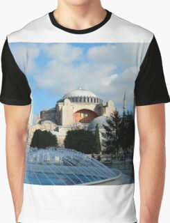 Fountains and Hagia Sophia, Istanbul, Turkey Graphic T-Shirt