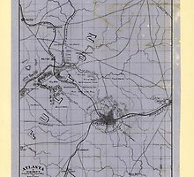 Civil War Maps 0059 Atlanta vicinity compiled from state map and information by wetdryvac