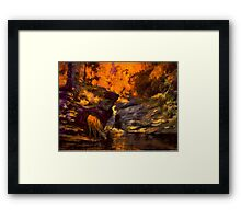 Fire at Totem Falls Framed Print