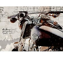 Harley Davidson 2014 Softail Deluxe Photographic Print