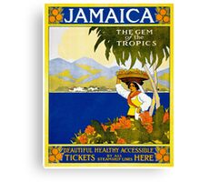 Jamaica Vintage Travel Poster Canvas Print