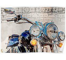 Harley Davidson FLSTN Softail Deluxe Poster
