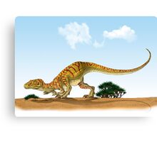 Eoraptor, an early dinosaur that lived during the late Triassic Period. Canvas Print