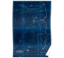 Civil War Maps 1335 Plan of Gettysburg with the battlefield of July 2nd 3rd 1863 and the National Cemetery Inverted Poster
