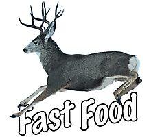Fast Food Buck Deer Photographic Print