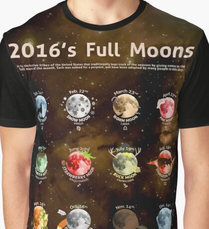 2016's Full Moons Graphic T-Shirt
