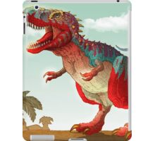 Colorful illustration of an angry Tyrannosaurus Rex. iPad Case/Skin