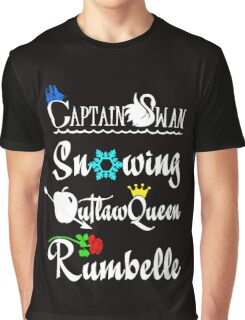 OUAT ships (white text) Graphic T-Shirt