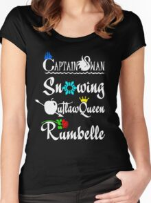 OUAT ships (white text) Women's Fitted Scoop T-Shirt