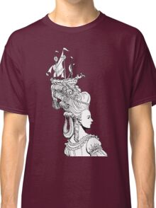 Girl With Ship Classic T-Shirt