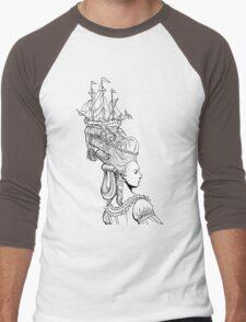 Girl With Ship Men's Baseball ¾ T-Shirt