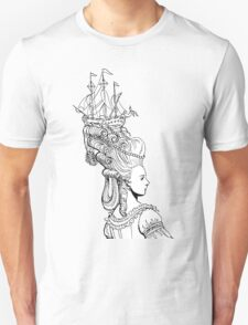 Girl With Ship Unisex T-Shirt