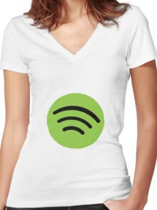 Spotify Women's Fitted V-Neck T-Shirt