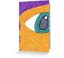 Psychedelic Eye Greeting Card