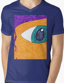 Psychedelic Eye Mens V-Neck T-Shirt