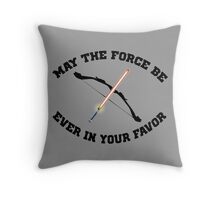 THE HUNGER GAMES MEETS STAR WARS Throw Pillow