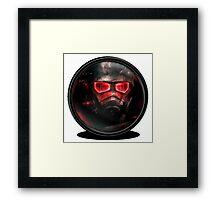 Fallout Helmet design Framed Print