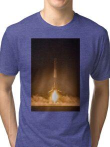 SpaceX Landing Rocket Tri-blend T-Shirt