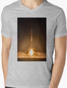 SpaceX Landing Rocket Mens V-Neck T-Shirt