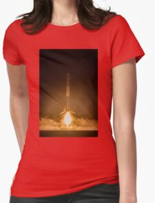 SpaceX Landing Rocket Womens Fitted T-Shirt