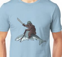 Bear riding a shark Unisex T-Shirt