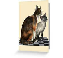 Watching Cats Greeting Card