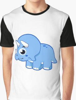 Cute illustration of a Triceratops dinosaur. Graphic T-Shirt