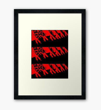 legs with high heels Framed Print