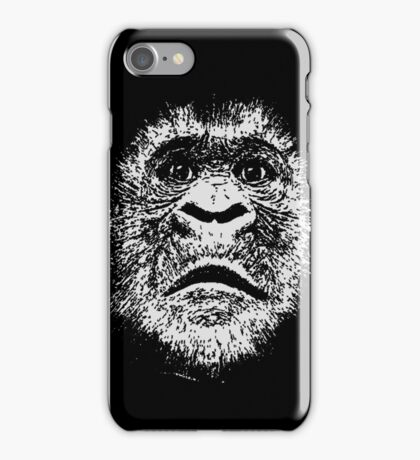 Black and White Face Of A Gorilla iPhone Case/Skin