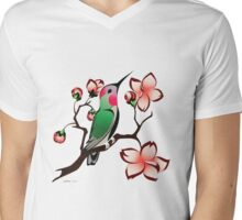 Hummingbird Spring Mens V-Neck T-Shirt