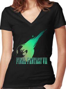 FFVII Women's Fitted V-Neck T-Shirt