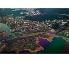 Unique Overview. Rainbow Earth Photographic Print