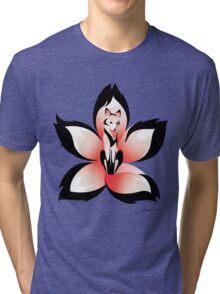 Hana (Flower) Kitsune Tri-blend T-Shirt