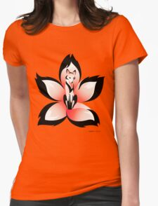 Hana (Flower) Kitsune Womens Fitted T-Shirt