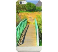 """Canyon Bridge"" Artwork by Carter L. Shepard iPhone Case/Skin"