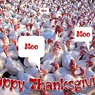 Turkey Farm Happy Thanksgiving Holiday Greeting by taiche
