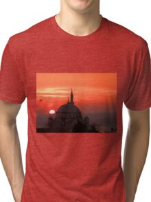 Atik Valide Sultan Mosque at Sunset Tri-blend T-Shirt