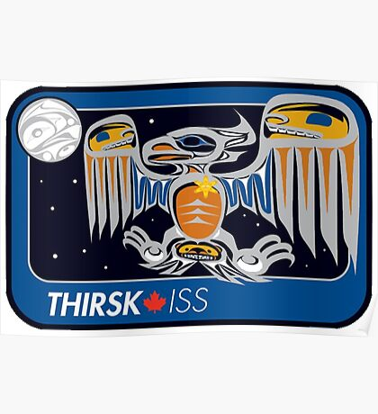 Personal ISS Mission Patch of Robert Thirsk Poster