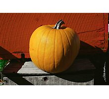 Perfect Pumpkin Photographic Print