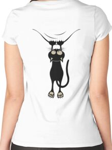 Cat Just Hanging Women's Fitted Scoop T-Shirt