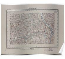 Civil War Maps 1554 Röthenbach Poster